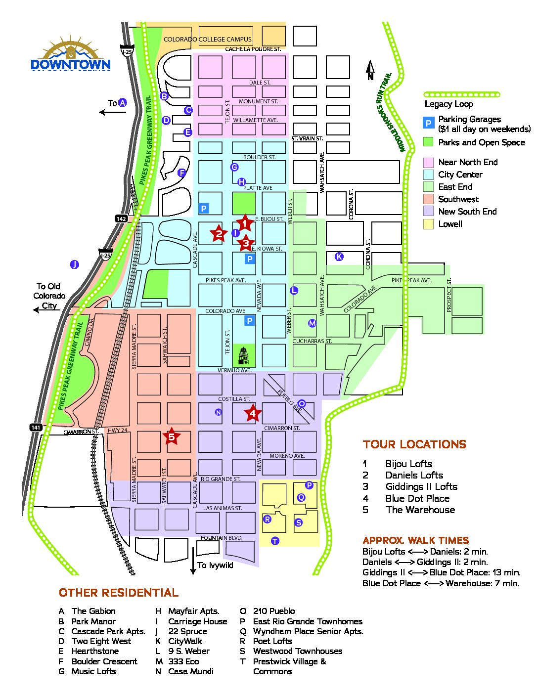 Map Of Colorado Springs ULT map | Downtown Partnership of Colorado Springs Map Of Colorado Springs